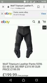 Wolf leather trousers