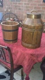 Old Charm Ornemental Milk Churn & Water Pail
