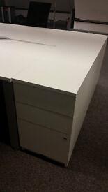 office pedestal filing cabinet Senator white