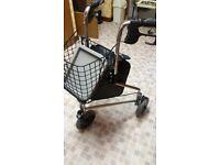 3 WHEEL MOBILITY WALKER / ROLLATOR * BAG & BASKET