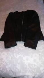 Ladies leather jacket, new size 12