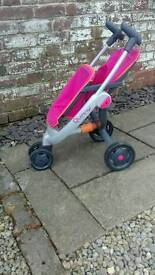 Quinny dolls double pushchair stroller buggy