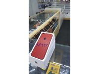 = BUY With Confidence = Boxed UNLOCKED Apple iPhone 6S **64GB** with RED carbon fibre sticker/skin