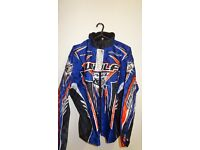 wulfsport jacket motocross motox quad junior youth kids age approx 13 size 34 blue orange