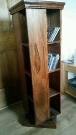 Solid spinning bookcase
