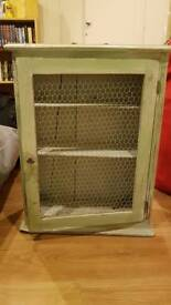 Green painted french style cupboard