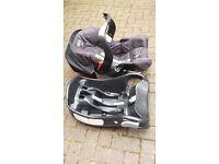 Graco Junior car seat wth easy base plus free Mothercare car seat 0-13kg