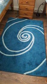 Teal colour rug
