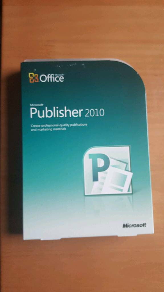 For sale is a Microsoft Publisher 2010 software.