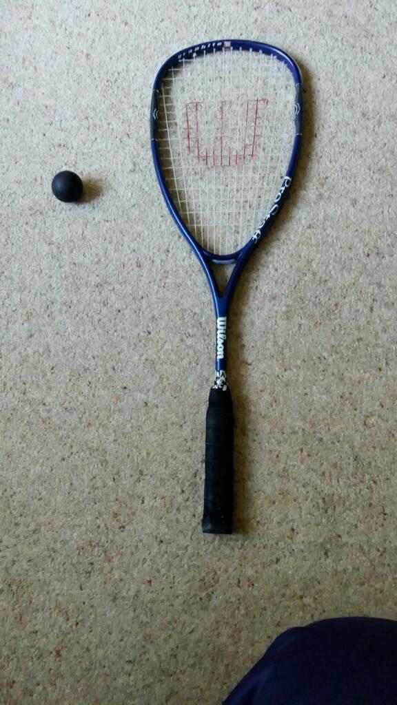 Wilson graphite top Quality squash raquet