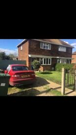 2 bedroom semi detached house with a large garden warboys