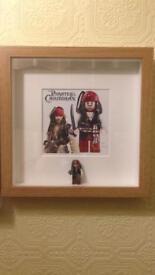 Lego figures framed