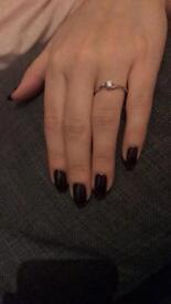 Beautiful white gold single diamond ring.
