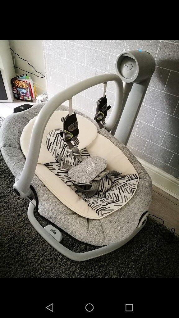 Joie 3 in one baby swing grey