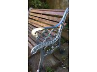 Cast iron full restored garden bench