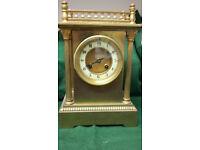 ANTIQUE BRASS CLOCK CIRCA 1890