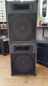 PA or DJ - Pair of TOA SL15 speakers