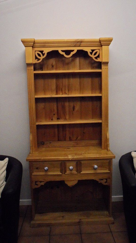 Vintage pine Welsh dresser with spode knobs quick sale required hence price