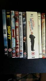 A selection of DVDs