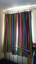 2 sets off Multi Coloured kids bedroom curtains