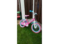 """Girls 14 """" Hello kitty bike in excellent condition can deliver for a small charge"""