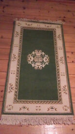 Green and cream carpet New small 3 and a half feetx 2ft Hall size lovely Made in Chard