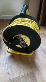 Cable reel 50 metres with 4 plug sockets.