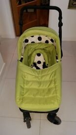 Obaby Travel System Lime Green and Black Spot Complete with Carseat.