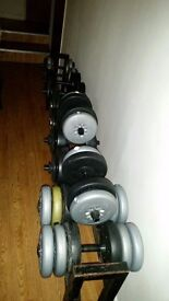Dumbbell rack 7ft long 1 row.will fit in a car