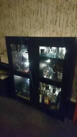 Black side unit / cocktail cabinet