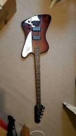Bass guitar epiphone thunderbird and amp