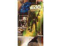 Star wars potf death star gunner ,bossk figure
