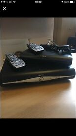 Sky +HD and Sky HD Multiroom Boxes with remotes