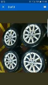 Genuine Mercedes Alloy wheels with Tyres (x4)