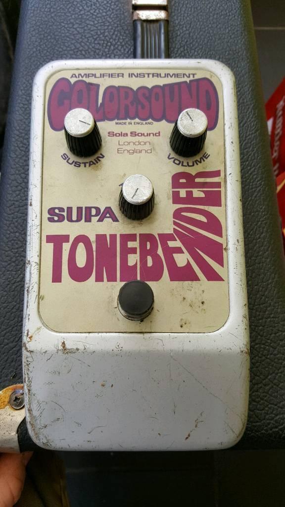 Vintage guitar pedal, coloursound supa tone bender