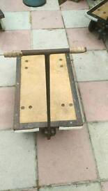 Vintage Steeel and Timber Gold Bullion Trolley.