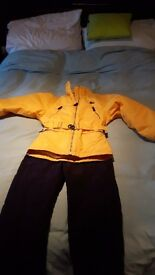 Girls ski jacket and salopetts