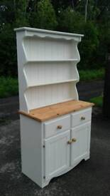 Solid pine dresser painted in 'shortbread'