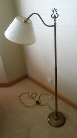 Laura Ashley Antique Brass Floor Lamp With Cream Shade Excellent Condition