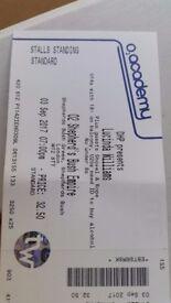 Lucinda Williams concert ticket x 1.