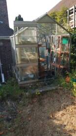 Greenhouse for sale buyer dismantles