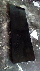 Black granite hearth