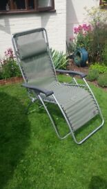 Lafuma Reclining Garden Chair with Carry Bag