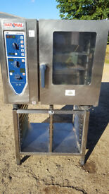 RATIONAL CM61, COMBIMASTER 6 GRID COMBI OVEN ON 3PHASE RACK STAND