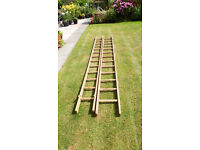 double wooden ladders