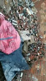 Free engineering bricks rubble hardcore ballast old style chimney bricks
