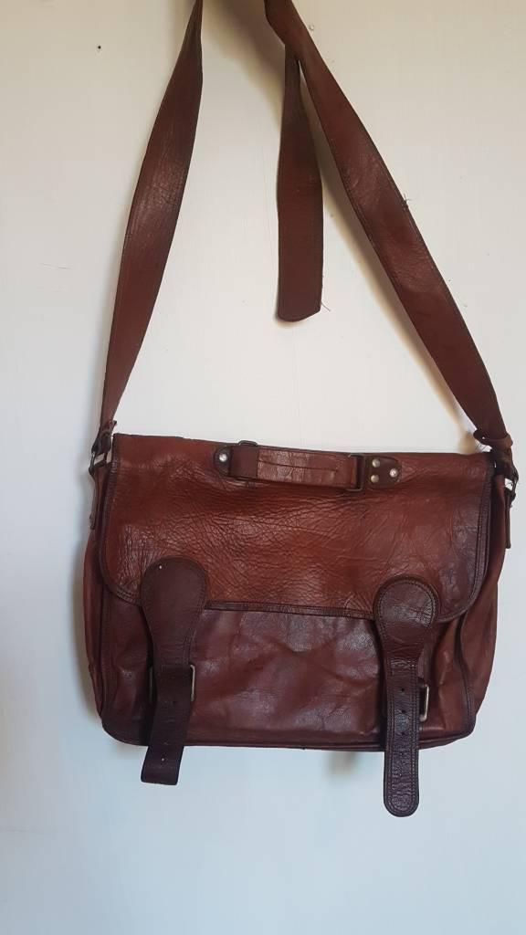61d65ea75c Leather Satchel   Laptop Documents Bag