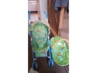 Fisher price doll pram and boucer