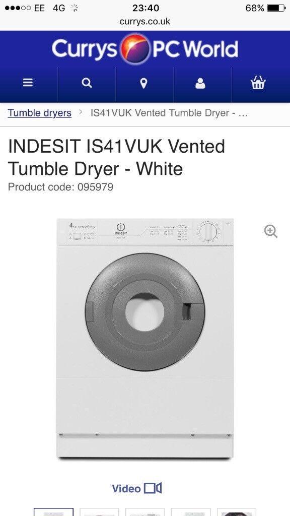 INDESIT 4KG tumble dryer 6 months old!