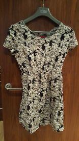 Boohoo Butterfly Print Skater Dress (size 10)
